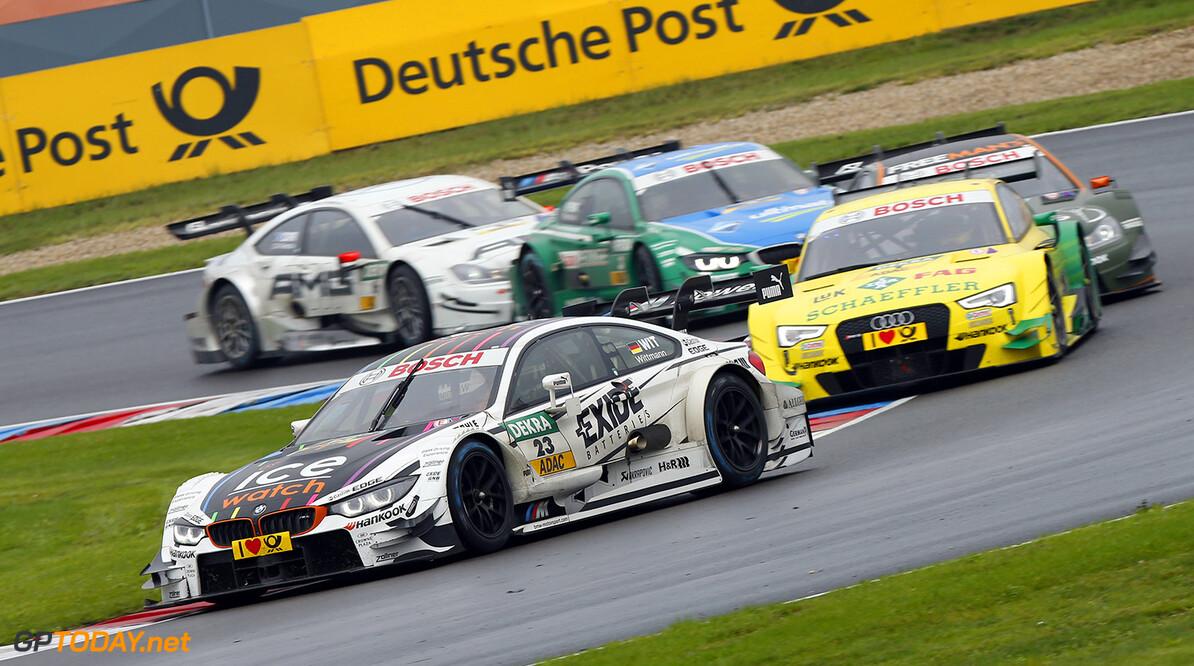 #23 Marco Wittmann (D, BMW Team RMG, BMW M4 DTM), #1 Mike Rockenfeller (GER, Audi Sport Team Phoenix, Audi RS 5 DTM), #3 Augusto Farfus (BR), BMW Team RBM, BMW M4 DTM)