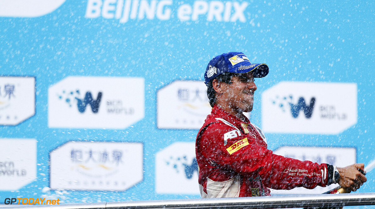 FIA Formula E -  Podium Beijing E-Prix, China Saturday 13 September 2014.  Photo: Sam Bloxham/LAT/ Formula E ref: Digital Image _SBL6334  Sam Bloxham