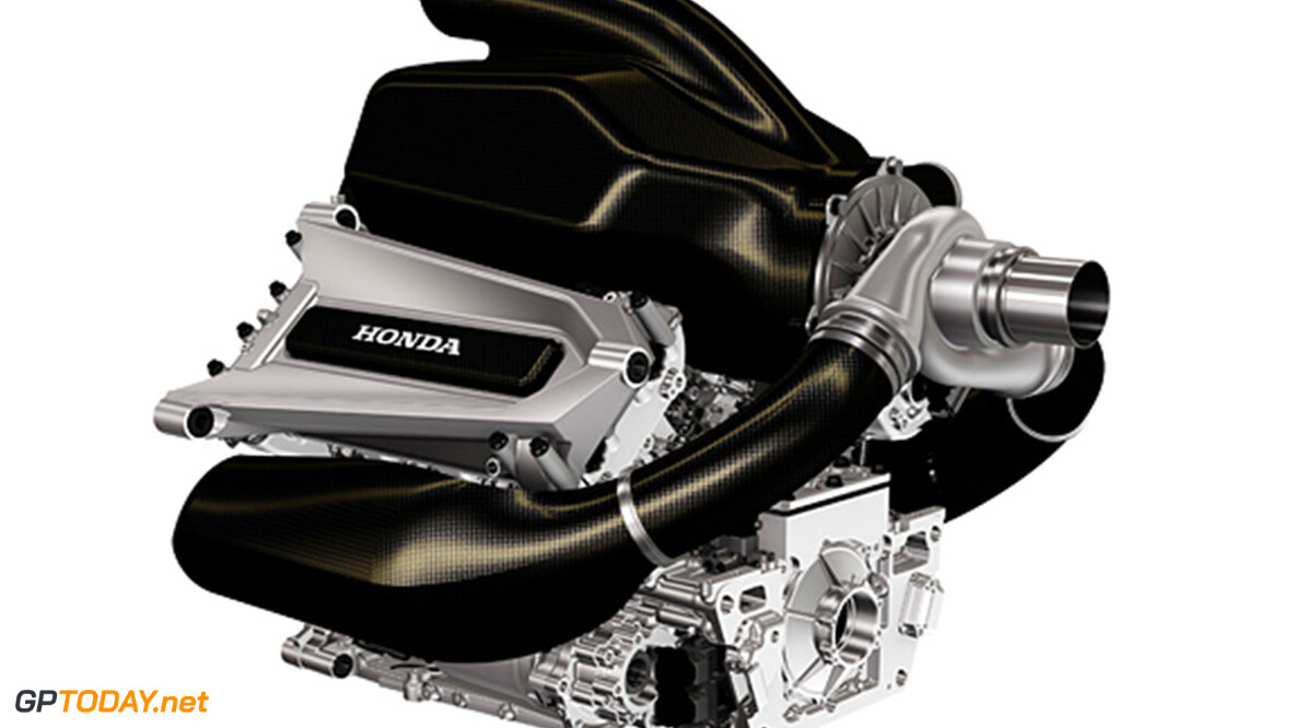 Honda reveals first image of V6 turbo for 2015