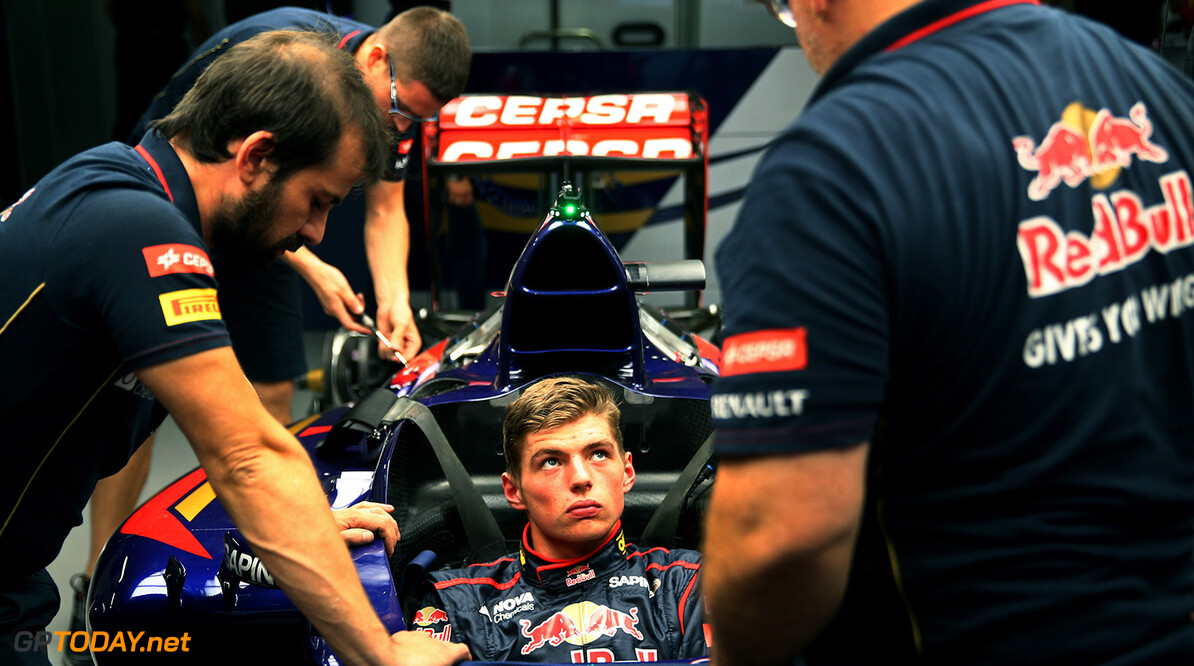 SUZUKA, JAPAN - OCTOBER 02:  Max Verstappen of Netherlands and Scuderia Toro Rosso attends a seat fitting ahead of the Japanese Formula One Grand Prix at Suzuka Circuit on October 2, 2014 in Suzuka, Japan.  (Photo by Mark Thompson/Getty Images) *** Local Caption *** Max Verstappen F1 Grand Prix of Japan - Previews Mark Thompson Suzuka Japan