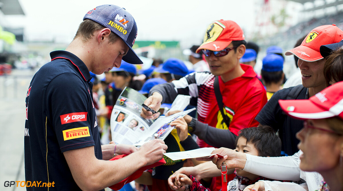 508022505PF002_F1_Grand_Pri SUZUKA, JAPAN - OCTOBER 02:  Max Verstappen of Toro Rosso and The Netherlands during previews ahead of the Japanese Formula One Grand Prix at Suzuka Circuit on October 2, 2014 in Suzuka, Japan.  (Photo by Peter Fox/Getty Images) *** Local Caption *** Max Verstappen F1 Grand Prix of Japan - Previews Peter Fox Suzuka Japan