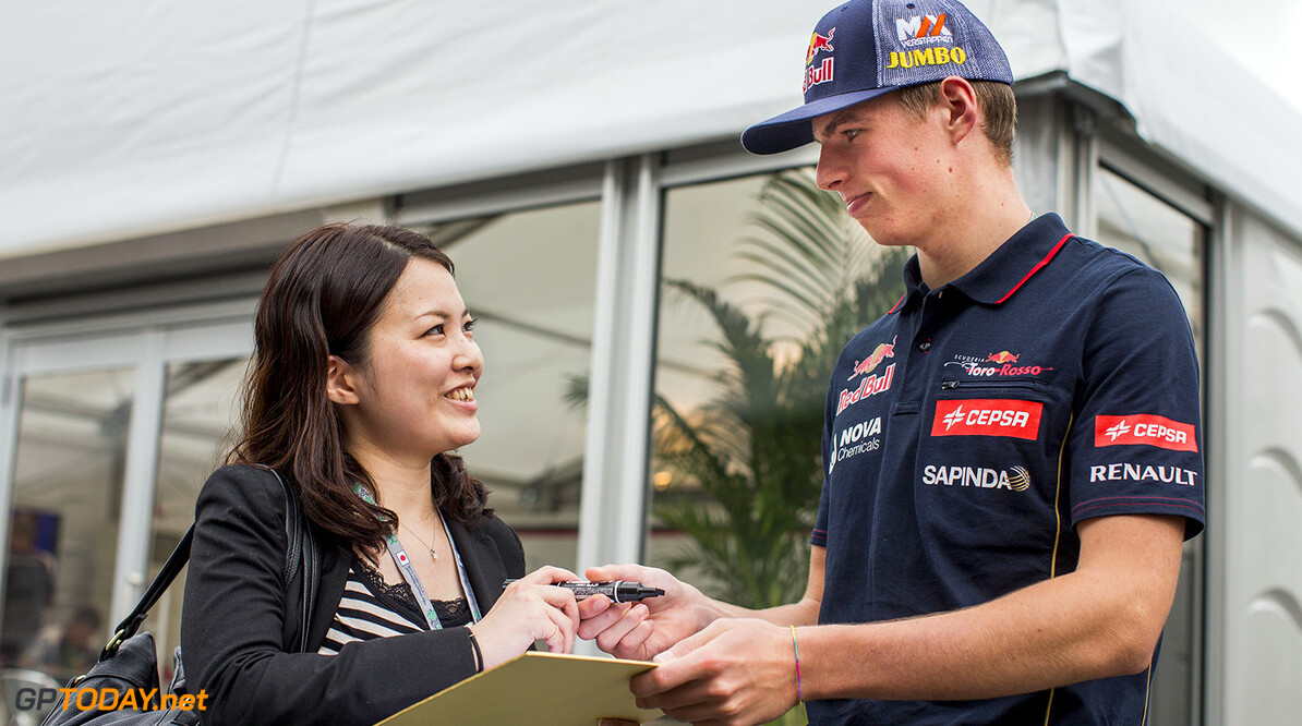 508022505PF001_F1_Grand_Pri SUZUKA, JAPAN - OCTOBER 02:  Max Verstappen of Toro Rosso and The Netherlands during previews ahead of the Japanese Formula One Grand Prix at Suzuka Circuit on October 2, 2014 in Suzuka, Japan.  (Photo by Peter Fox/Getty Images) *** Local Caption *** Max Verstappen F1 Grand Prix of Japan - Previews Peter Fox Suzuka Japan