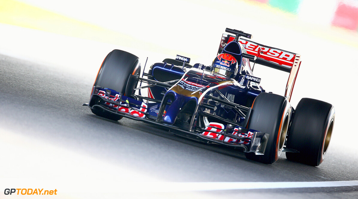 SUZUKA, JAPAN - OCTOBER 03:  Max Verstappen of Netherlands and Scuderia Toro Rosso drives during practice for the Japanese Formula One Grand Prix at Suzuka Circuit on October 3, 2014 in Suzuka, Japan.  (Photo by Clive Mason/Getty Images) *** Local Caption *** Max Verstappen F1 Grand Prix of Japan - Practice Clive Mason Suzuka Japan