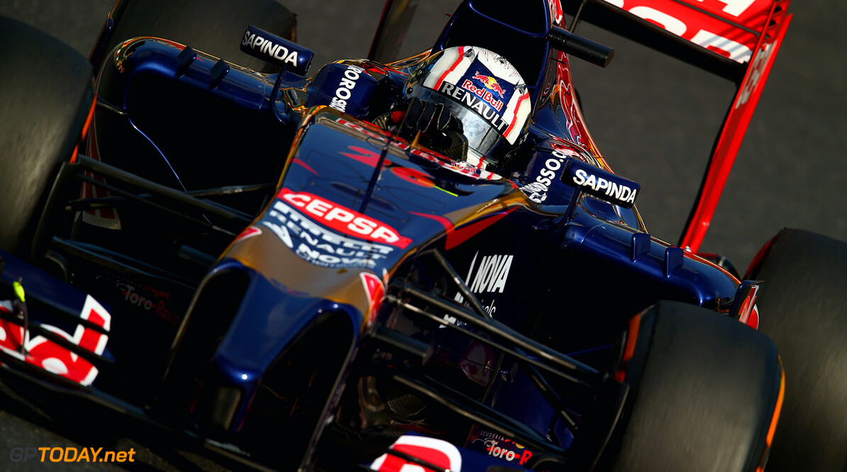 SUZUKA, JAPAN - OCTOBER 03: Daniil Kvyat of Russia and Scuderia Toro Rosso drives during practice for the Japanese Formula One Grand Prix at Suzuka Circuit on October 3, 2014 in Suzuka, Japan. (Photo by Clive Rose/Getty Images) *** Local Caption *** Daniil Kvyat F1 Grand Prix of Japan - Practice Clive Rose Suzuka Japan