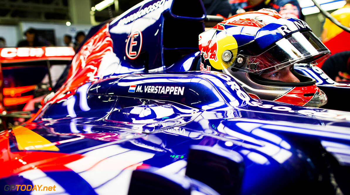 508022301PF017_F1_Grand_Pri SUZUKA, JAPAN - OCTOBER 03:  Max Verstappen of Toro Rosso and The Netherlands during practice for the Japanese Formula One Grand Prix at Suzuka Circuit on October 3, 2014 in Suzuka, Japan.  (Photo by Peter Fox/Getty Images) *** Local Caption *** Max Verstappen F1 Grand Prix of Japan - Practice Peter Fox Suzuka Japan