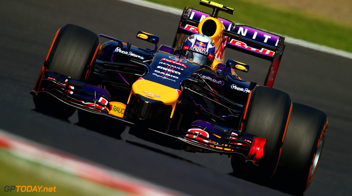 SUZUKA, JAPAN - OCTOBER 03: Daniel Ricciardo of Australia and Infiniti Red Bull Racing drives during practice for the Japanese Formula One Grand Prix at Suzuka Circuit on October 3, 2014 in Suzuka, Japan. (Photo by Clive Rose/Getty Images) *** Local Caption *** Daniel Ricciardo F1 Grand Prix of Japan - Practice Clive Rose Suzuka Japan