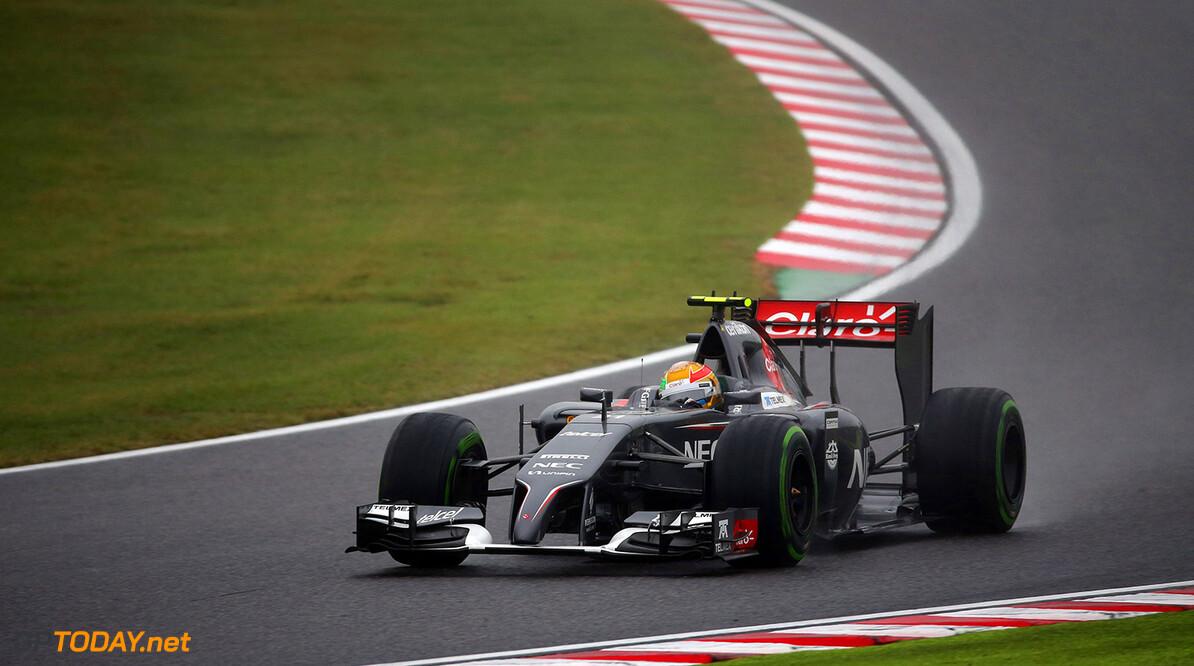 Japanese GP Race 05/10/14 Esteban Gutierrez (MEX), Sauber F1 Team. Suzuka Circuit.  Japanese GP Race 05/10/14 Jad Sherif                       Suzuka Japan  F1 Formula 1 One 2014 action Gutierrez Sauber