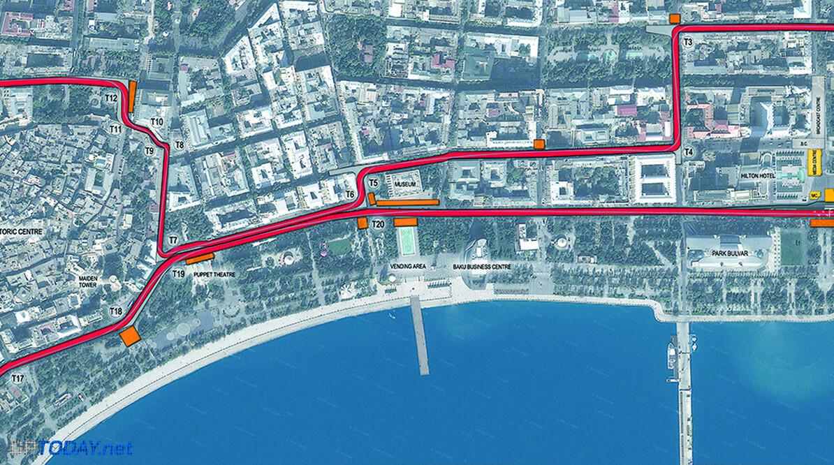 Parkoers voor stratencircuit Bakoe onthuld in Azerbeidzjan
