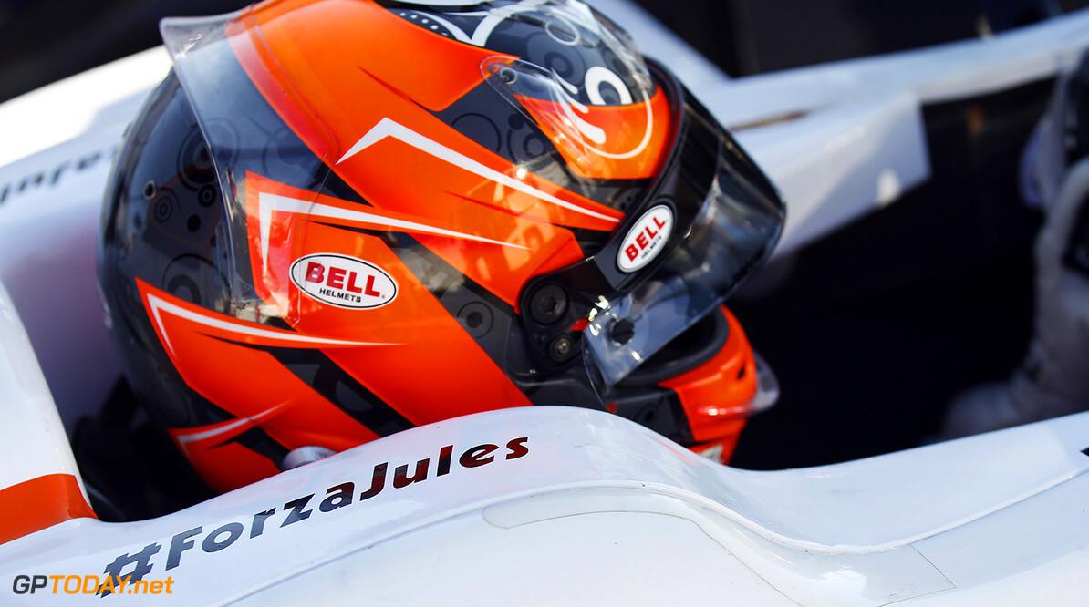 2014 GP2 Series. Round 10.   Sochi Autodrom, Sochi, Russia.  Friday 10 October 2014. #ForzaJules on car of Daniel de Jong (NED, MP Motorsport)  Photo: Sam Bloxham/GP2 Series Media Service. ref: Digital Image _G7C4996  Sam Bloxham    Qualifying