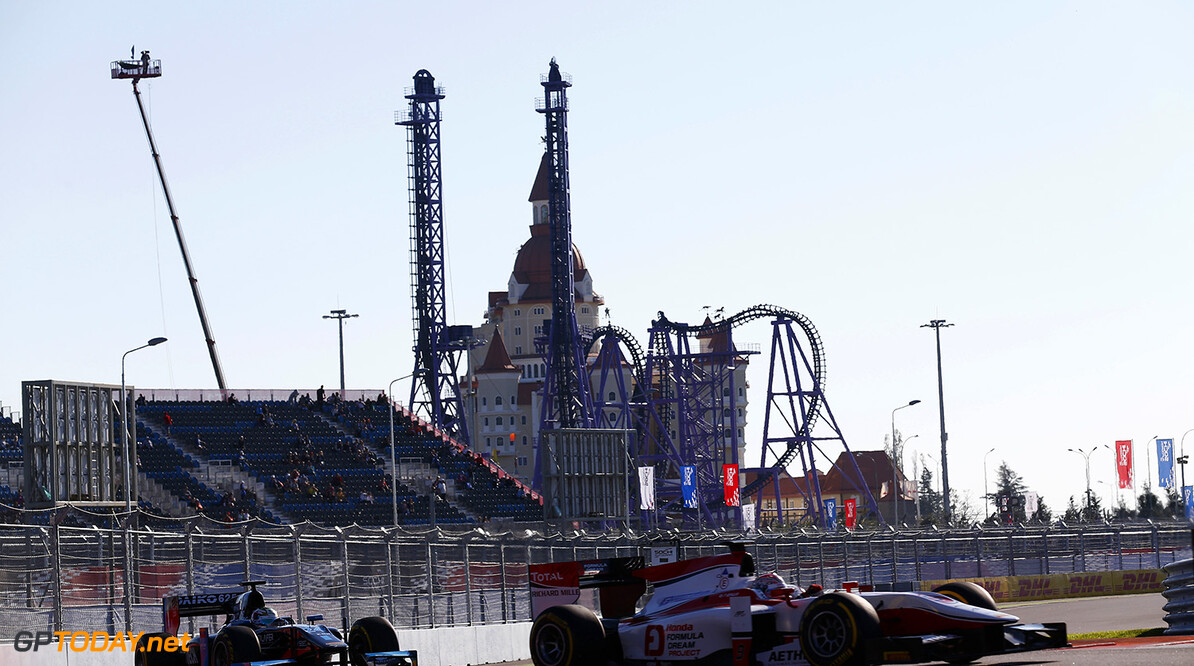2014 GP2 Series. Round 10.   Sochi Autodrom, Sochi, Russia.  Friday 10 October 2014. Takuya Izawa (JPN, ART Grand Prix)  Photo: Sam Bloxham/GP2 Series Media Service. ref: Digital Image _SBL7440  Sam Bloxham    Qualifying