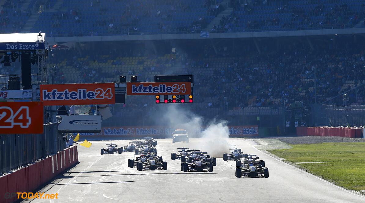 FIA Formula 3 European Championship, round 11, race 3, Hockenhei Start cancelation of the race, FIA Formula 3 European Championship, round 11, race 3, Hockenheim (GER) - 17. - 19. October 2014 FIA Formula 3 European Championship, round 11, race 3, Hockenheim (GER) Thomas Suer Hockenheim Germany