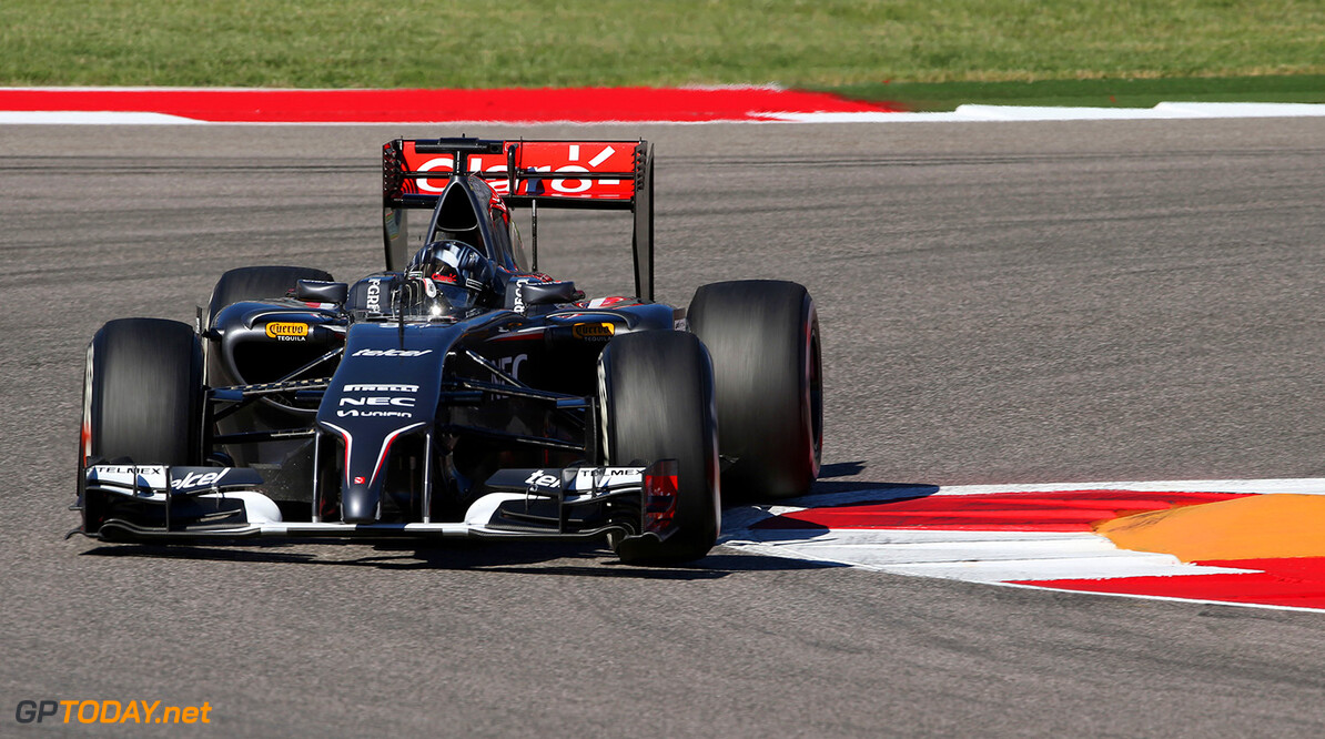 United States GP Friday 31/10/14 Adrian Sutil (GER) Sauber F1 Team. 