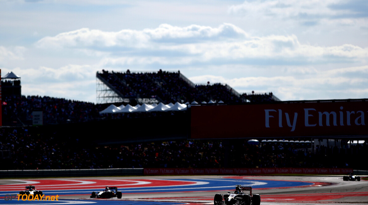AUSTIN, TX - NOVEMBER 02:  Daniil Kvyat of Russia and Scuderia Toro Rosso drives during the United States Formula One Grand Prix at Circuit of The Americas on November 2, 2014 in Austin, United States.  (Photo by Paul Gilham/Getty Images) *** Local Caption *** Daniil Kvyat F1 Grand Prix of USA Paul Gilham Austin United States  forumla one racing