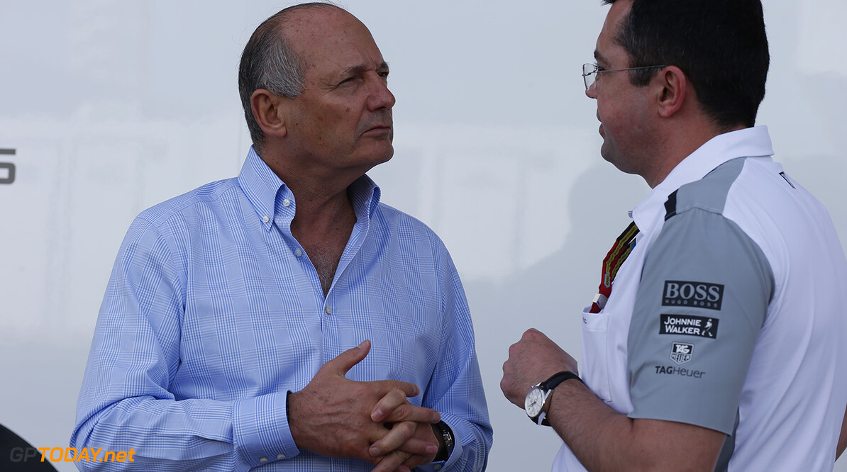 Ron Dennis with Eric Boullier  Steven Tee