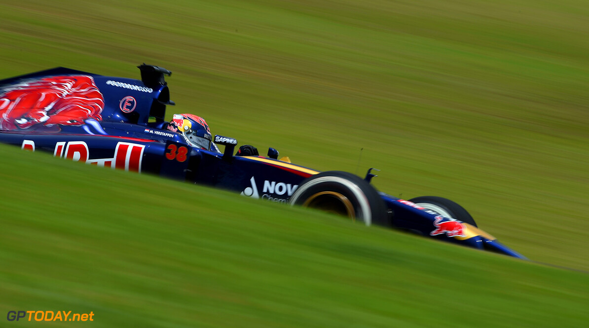 SAO PAULO, BRAZIL - NOVEMBER 07:  Max Verstappen of Netherlands and Scuderia Toro Rosso drives during practice ahead of the Brazilian Formula One Grand Prix at Autodromo Jose Carlos Pace on November 7, 2014 in Sao Paulo, Brazil.  (Photo by Paul Gilham/Getty Images) *** Local Caption *** Max Verstappen F1 Grand Prix of Brazil - Practice Paul Gilham Sao Paulo Brazil  forumla one racing Interlagos