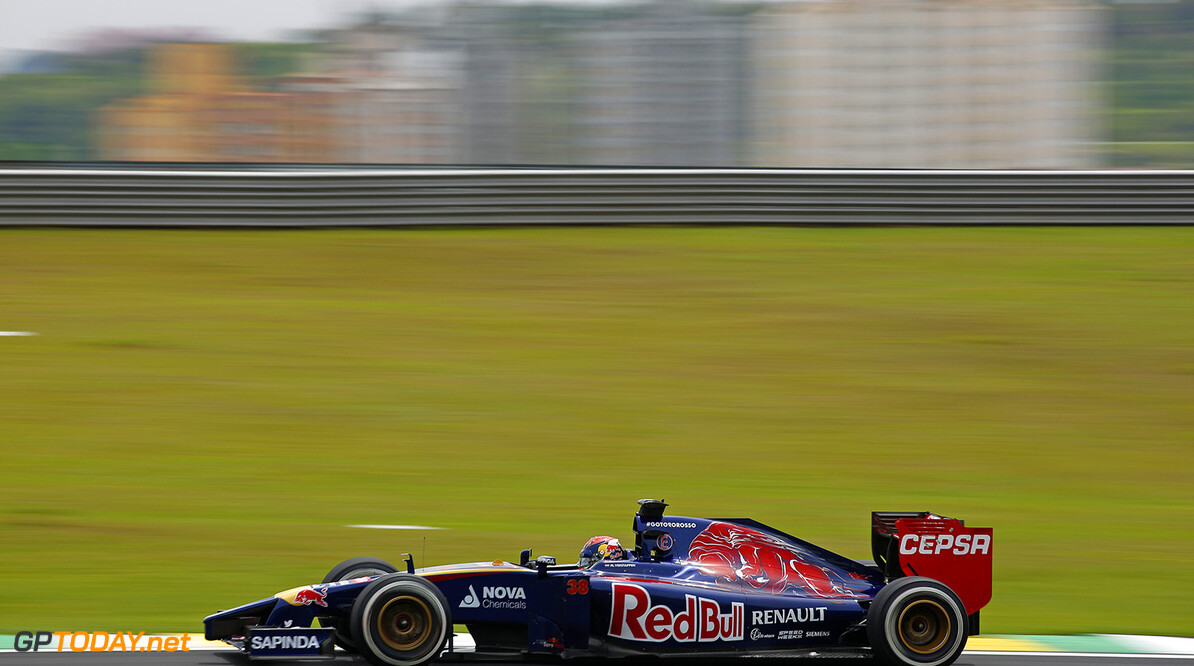 VERSTAPPEN Max (NL) Test Driver Toro Rosso Str9 Renault action   during the 2014 Formula One World Championship, Brazil Grand Prix from November 6th to 9th 2014 in Sao Paulo, Brazil. Photo Frederic Le Floch / DPPI. F1 - BRAZIL GRAND PRIX 2014 FREDERIC LE FLOC H Sao Paulo Bresil  Auto Car BRESIL f1 formula 1 Formula One FORMULE 1 FORMULE UN Grand Prix MONOPLACE Motorsport november NOVEMBRE Race UNIPLACE UNITED BRESILIEN BRAZILIAN WORLD CHAMPIONSHIP