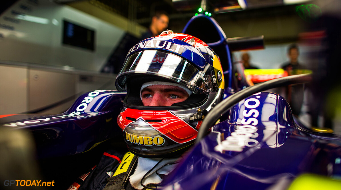 517477749PF006_F1_Grand_Pri SAO PAULO, BRAZIL - NOVEMBER 07:  Max Verstappen of Toro Rosso and The Netherlands during practice for the Brazilian Formula One Grand Prix at Autodromo Jose Carlos Pace on November 7, 2014 in Sao Paulo, Brazil.  (Photo by Peter Fox/Getty Images) *** Local Caption *** Max Verstappen F1 Grand Prix of Brazil - Practice Peter Fox Sao Paulo Brazil
