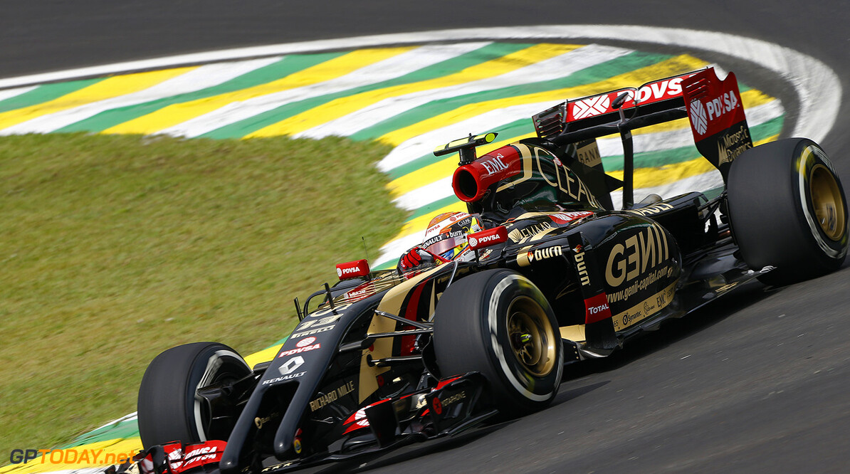 MALDONADO Pastor (Ven) Lotus E Renault E22 action   during the 2014 Formula One World Championship, Brazil Grand Prix from November 6th to 9th 2014 in Sao Paulo, Brazil. Photo Frederic Le Floch / DPPI. F1 - BRAZIL GRAND PRIX 2014 FREDERIC LE FLOC H Sao Paulo Bresil  Auto Car BRESIL f1 formula 1 Formula One FORMULE 1 FORMULE UN Grand Prix MONOPLACE Motorsport november NOVEMBRE Race UNIPLACE UNITED BRESILIEN BRAZILIAN WORLD CHAMPIONSHIP