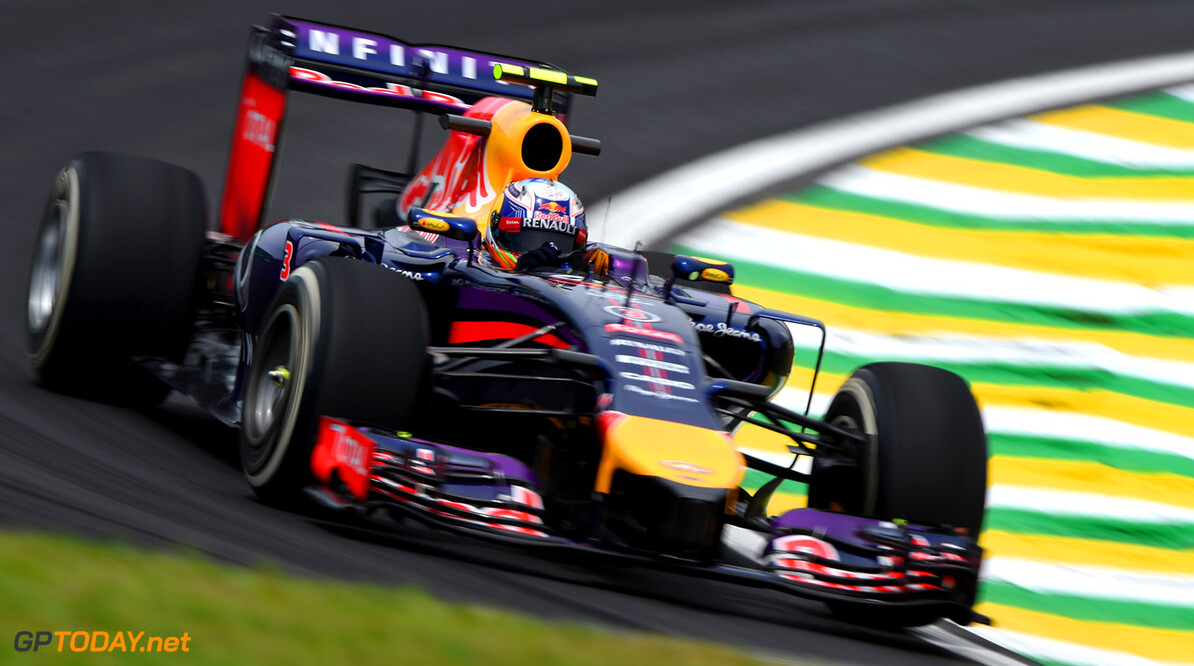 SAO PAULO, BRAZIL - NOVEMBER 07:  Daniel Ricciardo of Australia and Infiniti Red Bull Racing drives during practice ahead of the Brazilian Formula One Grand Prix at Autodromo Jose Carlos Pace on November 7, 2014 in Sao Paulo, Brazil.  (Photo by Paul Gilham/Getty Images) *** Local Caption *** Daniel Ricciardo F1 Grand Prix of Brazil - Practice Paul Gilham Sao Paulo Brazil  forumla one racing Interlagos