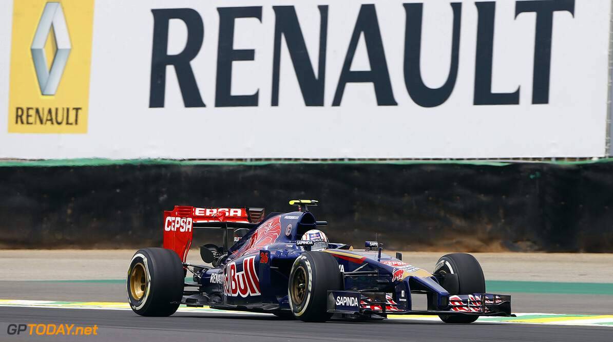 KVYAT Daniil (Rus) Toro Rosso Str9 Renault action   during the 2014 Formula One World Championship, Brazil Grand Prix from November 6th to 9th 2014 in Sao Paulo, Brazil. Photo Frederic Le Floch / DPPI. F1 - BRAZIL GRAND PRIX 2014 FREDERIC LE FLOC H Sao Paulo Bresil  Auto Car BRESIL f1 formula 1 Formula One FORMULE 1 FORMULE UN Grand Prix MONOPLACE Motorsport november NOVEMBRE Race UNIPLACE UNITED BRESILIEN BRAZILIAN WORLD CHAMPIONSHIP