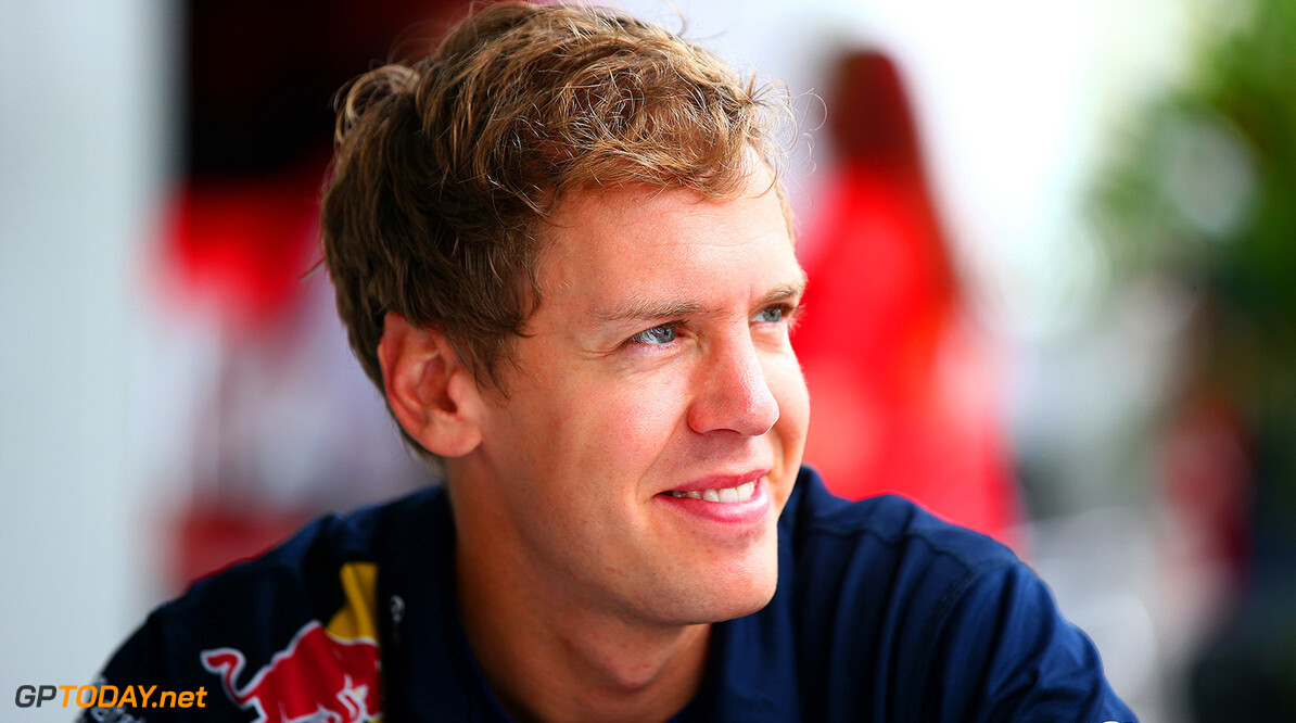 SAO PAULO, BRAZIL - NOVEMBER 06:  Sebastian Vettel of Germany and Infiniti Red Bull Racing looks on during previews ahead of the Brazilian Formula One Grand Prix at Autodromo Jose Carlos Pace on November 6, 2014 in Sao Paulo, Brazil.  (Photo by Mark Thompson/Getty Images) *** Local Caption *** Sebastian Vettel F1 Grand Prix of Brazil - Previews Mark Thompson Sao Paulo Brazil  forumla one racing Interlagos