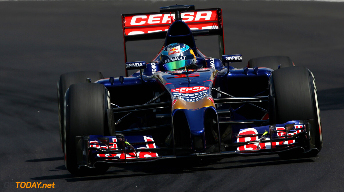 SAO PAULO, BRAZIL - NOVEMBER 09:  Jean-Eric Vergne of France and Scuderia Toro Rosso drives during the Brazilian Formula One Grand Prix at Autodromo Jose Carlos Pace on November 9, 2014 in Sao Paulo, Brazil.  (Photo by Clive Mason/Getty Images) *** Local Caption *** Jean-Eric Vergne F1 Grand Prix of Brazil Clive Mason Sao Paulo Brazil  forumla one racing Interlagos