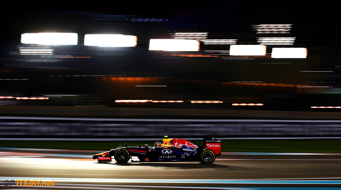 ABU DHABI, UNITED ARAB EMIRATES - NOVEMBER 21:  Daniel Ricciardo of Australia and Infiniti Red Bull Racing drives during practice ahead of the Abu Dhabi Formula One Grand Prix at Yas Marina Circuit on November 21, 2014 in Abu Dhabi, United Arab Emirates.  (Photo by Mark Thompson/Getty Images) *** Local Caption *** Daniel Ricciardo F1 Grand Prix of Abu Dhabi - Practice Mark Thompson Abu Dhabi United Arab Emirates  formula one racing