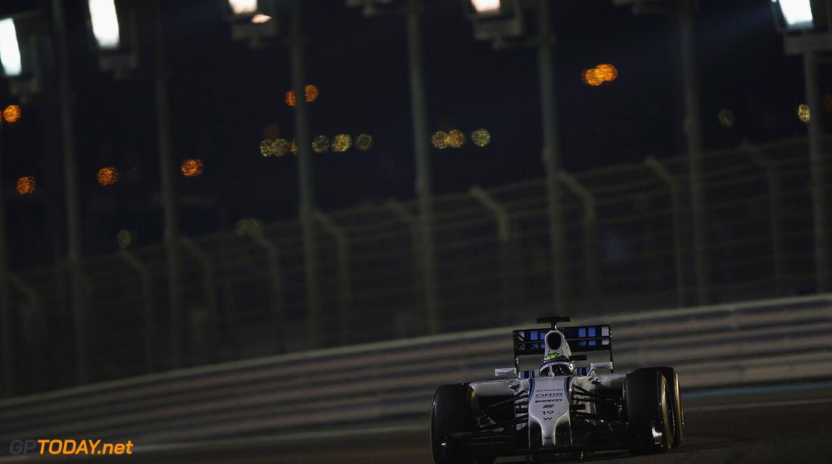 Yas Marina Circuit, Abu Dhabi, United Arab Emirates. Sunday 23 November 2014. Felipe Massa, Williams FW36 Mercedes. Photo: Andrew Ferraro/Williams F1. ref: Digital Image _AND9556      f1 formula 1 formula one gp Action