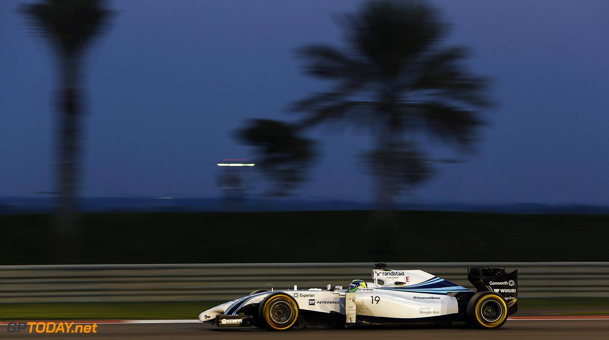 Yas Marina Circuit, Abu Dhabi, United Arab Emirates. Sunday 23 November 2014. Felipe Massa, Williams FW36 Mercedes. Photo: Andrew Ferraro/Williams F1. ref: Digital Image _AND9344      f1 formula 1 formula one gp Action