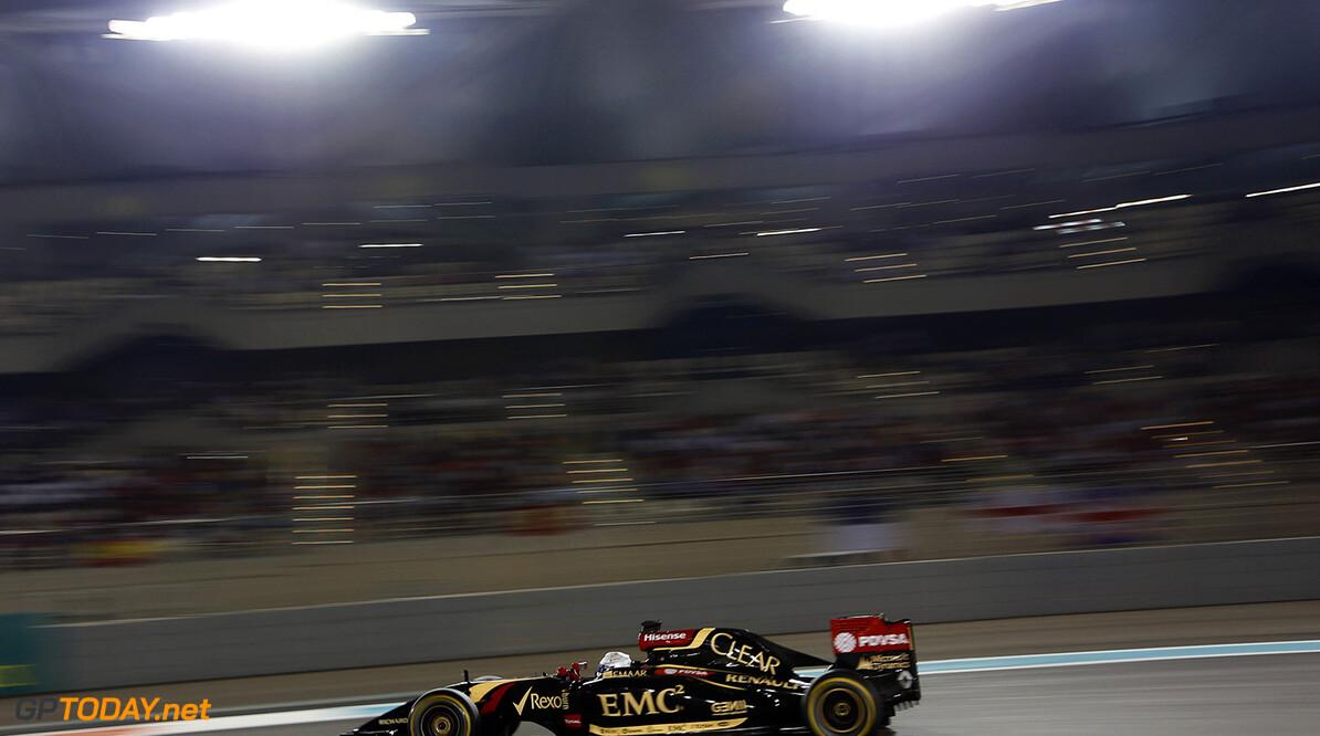 _79P0639.jpg Yas Marina Circuit, Abu Dhabi, United Arab Emirates. Sunday 23 November 2014. Romain Grosjean, Lotus E22 Renault. Photo: Alastair Staley/Lotus F1 Team. ref: Digital Image _79P0639 -------------------- Alastair Staley / Lotus F1 2014 FIA Formula One World Championship Abu Dhabi Grand Prix 23 November 2014 Yas Marina Circuit, Abu Dhabi, United Arab Emirates. Sunday 23 November 2014. Romain Grosjean, Lotus E22 Renault. Photo: Alastair Staley/Lotus F1 Team. ref: Digital Image _79P0639 Alastair Staley    f1 formula 1 formula one gp action