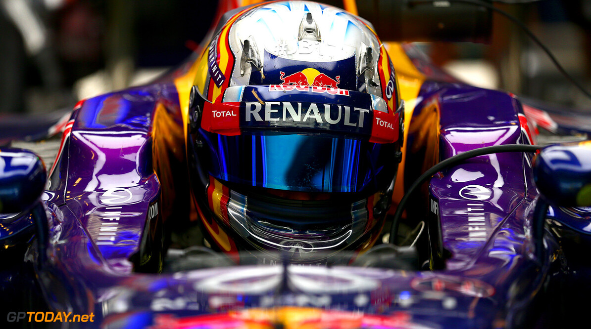 ABU DHABI, UNITED ARAB EMIRATES - NOVEMBER 25:  Carlos Sainz Jr. of Spain and Infiniti Red Bull Racing sits in his car in the garage during day one of Formula One testing at Yas Marina Circuit on November 25, 2014 in Abu Dhabi, United Arab Emirates.  (Photo by Dan Istitene/Getty Images) *** Local Caption *** Carlos Sainz Jr. F1 Testing In Abu Dhabi - Day One Dan Istitene Abu Dhabi United Arab Emirates  Formula One Racing