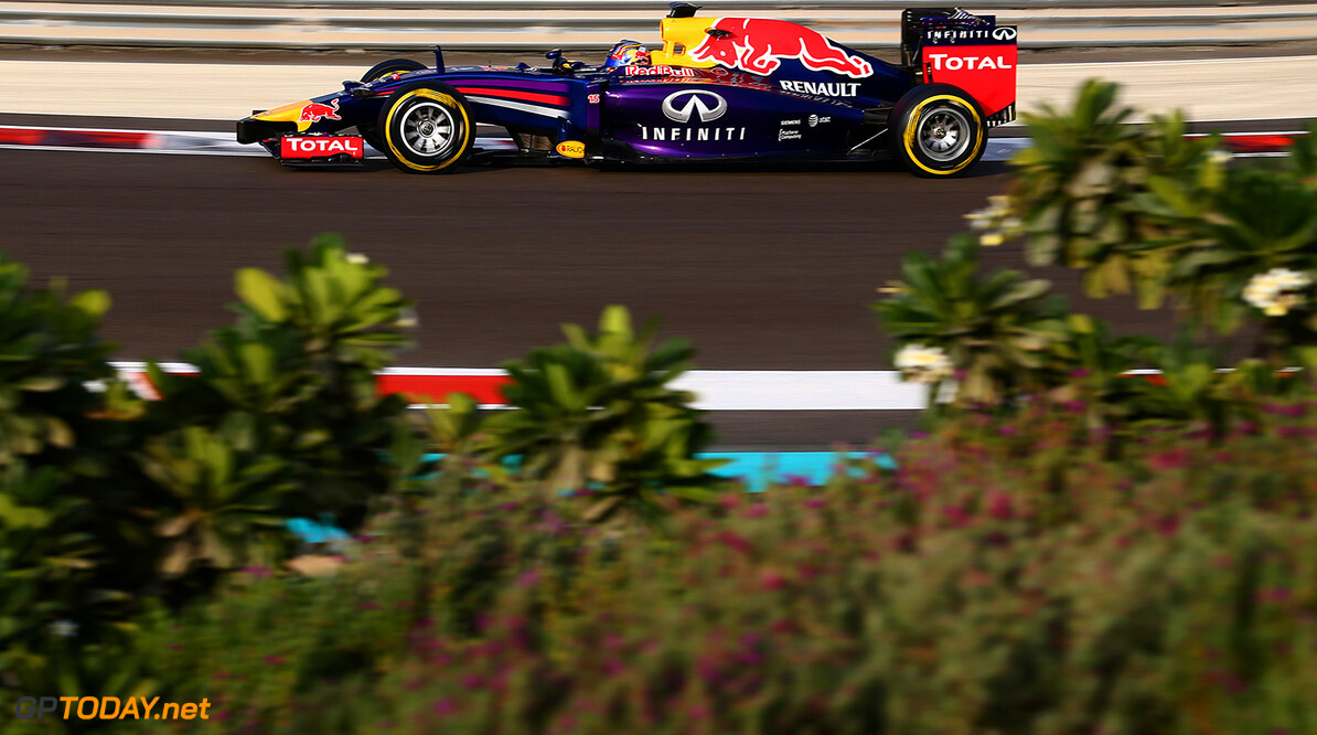 ABU DHABI, UNITED ARAB EMIRATES - NOVEMBER 25:  Carlos Sainz Jr. of Spain and Infiniti Red Bull Racing drives during day one of Formula One testing at Yas Marina Circuit on November 25, 2014 in Abu Dhabi, United Arab Emirates.  (Photo by Dan Istitene/Getty Images) *** Local Caption *** Carlos Sainz Jr. F1 Testing In Abu Dhabi - Day One Dan Istitene Abu Dhabi United Arab Emirates  Formula One Racing