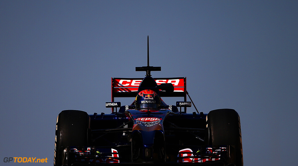 ABU DHABI, UNITED ARAB EMIRATES - NOVEMBER 26:  Max Verstappen of Netherlands and Scuderia Toro Rosso drives during day two of Formula One testing at Yas Marina Circuit on November 26, 2014 in Abu Dhabi, United Arab Emirates.  (Photo by Dan Istitene/Getty Images) *** Local Caption *** Max Verstappen F1 Testing In Abu Dhabi - Day Two Dan Istitene Abu Dhabi United Arab Emirates  Formula One Racing