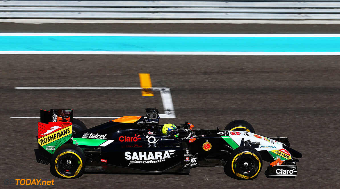 Formula One Testing Spike Goddard (AUS) Sahara Force India F1 VJM07 Test Driver tests the Info Wing.