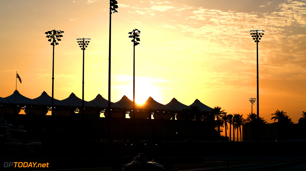 ABU DHABI, UNITED ARAB EMIRATES - NOVEMBER 25:  Max Verstappen of Netherlands and Scuderia Toro Rosso drives during day one of Formula One testing at Yas Marina Circuit on November 25, 2014 in Abu Dhabi, United Arab Emirates.  (Photo by Dan Istitene/Getty Images) *** Local Caption *** Max Verstappen F1 Testing In Abu Dhabi - Day One Dan Istitene Abu Dhabi United Arab Emirates  Formula One Racing