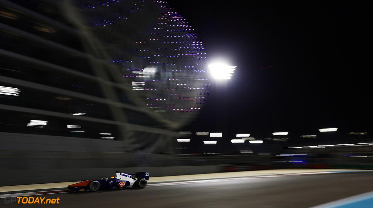 2014 GP2 Series. Round 11.   Yas Marina Circuit, Abu Dhabi, United Arab Emirates. Saturday 22 November 2014. Sergio Canamasas (CAN, Trident). Photo: Zak Mauger/GP2 Series Media Service. ref: Digital Image _L0U6876   Zak Mauger    Race One 1 Feature