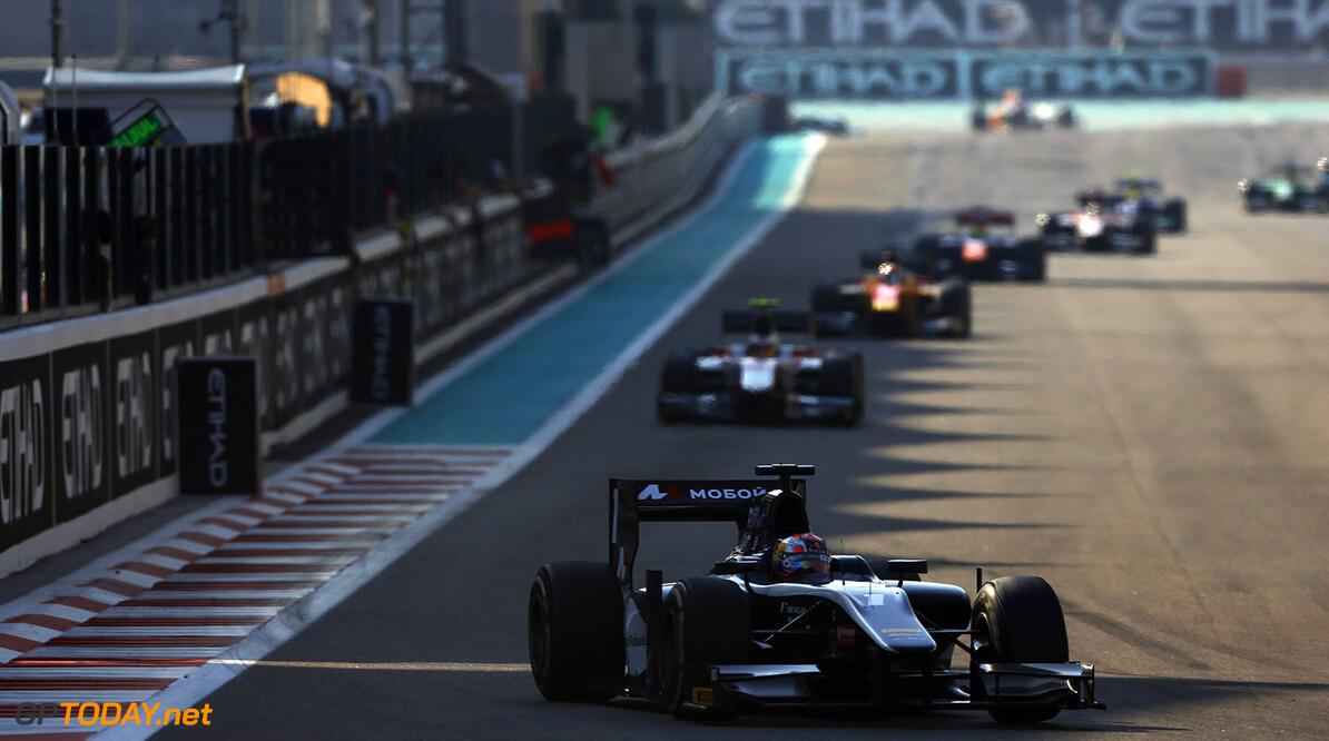 2014 GP2 Series. Round 11.   Yas Marina Circuit, Abu Dhabi, United Arab Emirates. Sunday 23 November 2014. Mitch Evans (NZL, RT RUSSIAN TIME). Photo: Zak Mauger/GP2 Series Media Service. ref: Digital Image _L0U7870   Zak Mauger    Race Two 2 Sprint