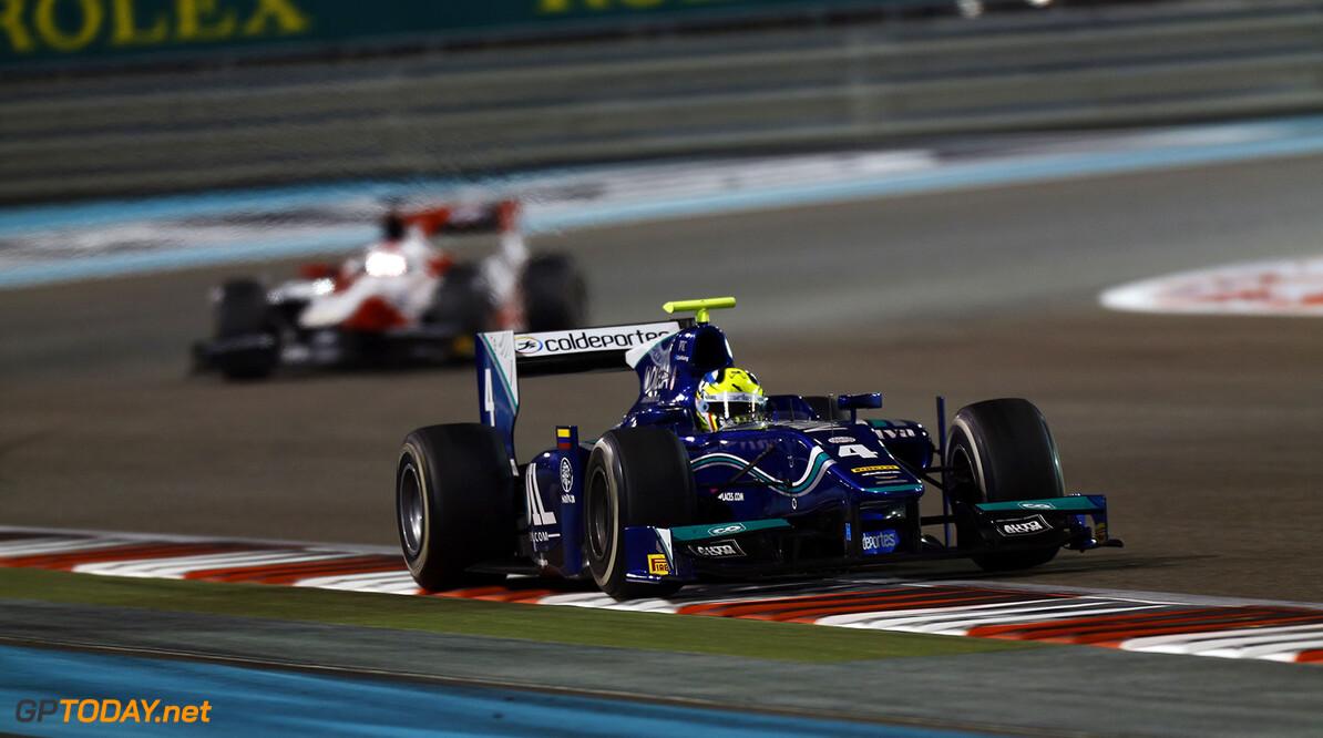 2014 GP2 Series. Round 11.   Yas Marina Circuit, Abu Dhabi, United Arab Emirates. Saturday 22 November 2014. Julian Leal (COL, Carlin)  Photo: Sam Bloxham/GP2 Series Media Service. ref: Digital Image _SBL5935   Sam Bloxham    Race One 1 Feature