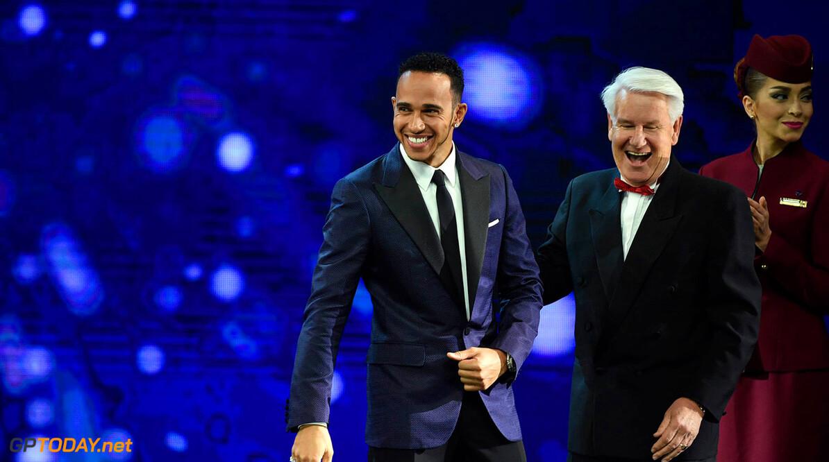 Lewis Hamilton dik in de prijzen bij BRDC Awards
