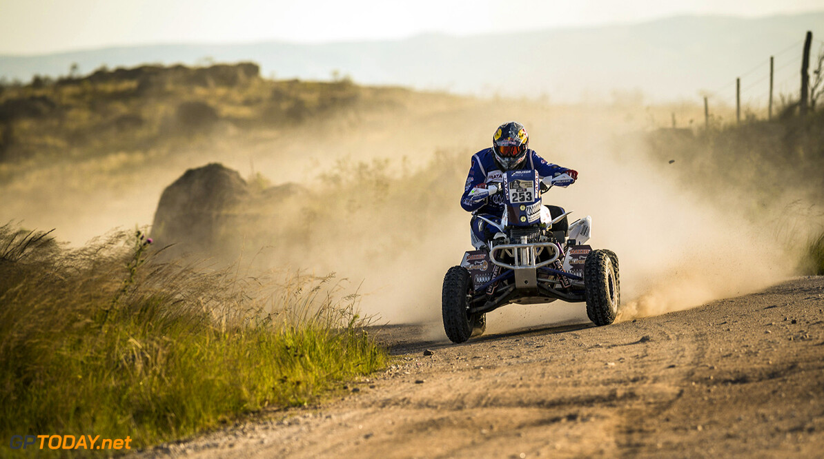 Mohamed Abu Issa  races during the 2nd stage of Rally Dakar 2015 from  Villa Carlos Paz to San Juan, Argentina on January 5th, 2015 // Marcelo Maragni/Red Bull Content Pool // P-20150105-00140 // Usage for editorial use only // Please go to www.redbullcontentpool.com for further information. //  Mohamed Abu Issa - Action     P-20150105-00140