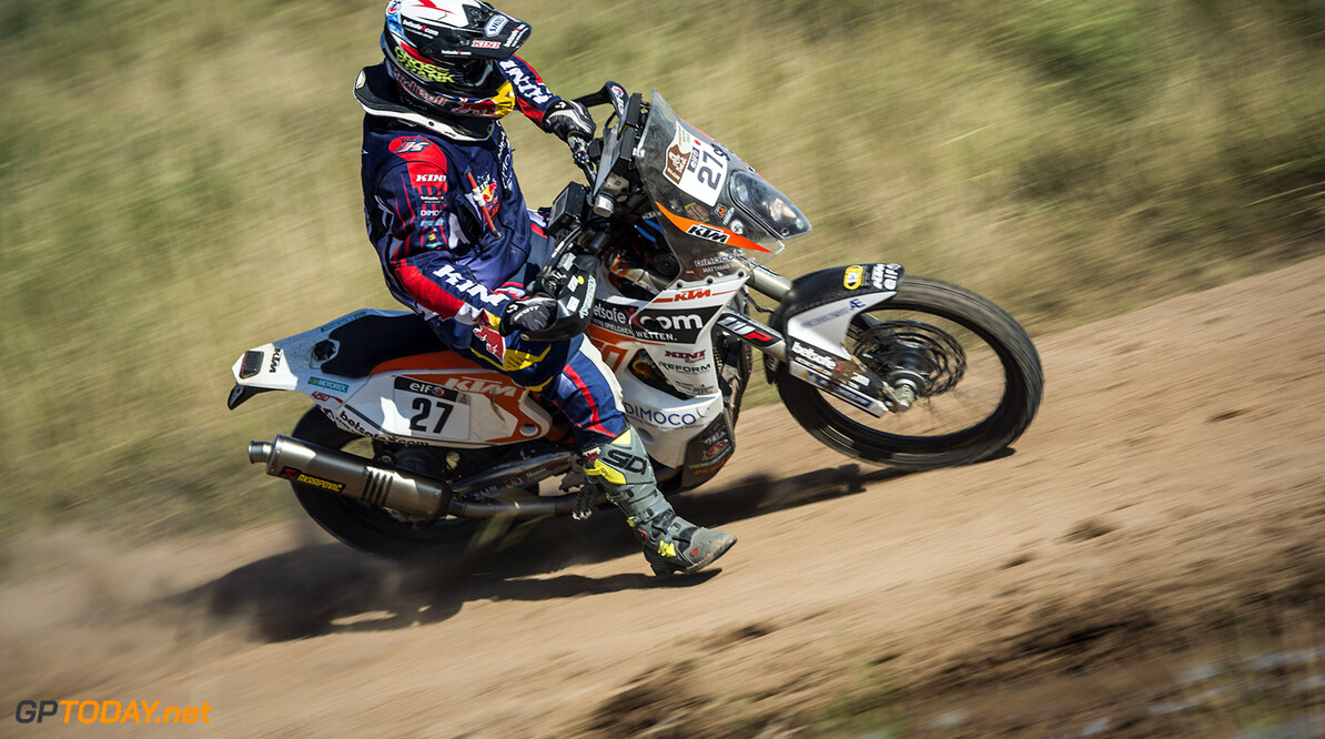 Matthias Walkner races during the 1st stage of Rally Dakar 2015 from Buenos Aires to Villa Carlos Paz, Argentina on January 4th, 2015 // Marcelo Maragni/Red Bull Content Pool // P-20150104-00035 // Usage for editorial use only // Please go to www.redbullcontentpool.com for further information. //  Matthias Walkner - Action     P-20150104-00035