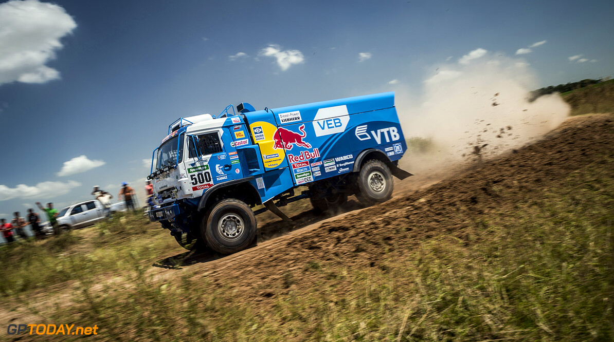 Andrey Karginov races during the 1st stage of Rally Dakar 2015 from Buenos Aires to Villa Carlos Paz, Argentina on January 4th, 2015 // Marcelo Maragni/Red Bull Content Pool // P-20150104-00141 // Usage for editorial use only // Please go to www.redbullcontentpool.com for further information. //  Andrey Karginov - Action     P-20150104-00141