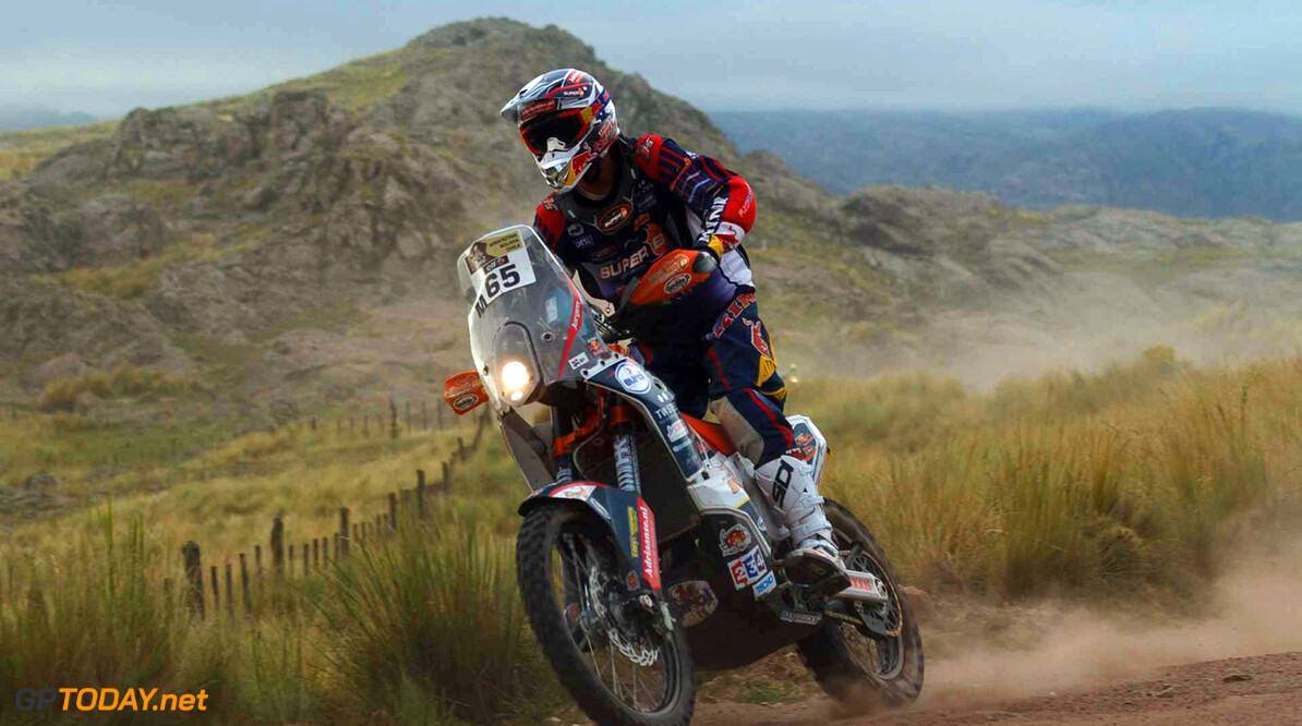 Copyright 2015 Dakar Press team  Roeland Heuff    65 Jurgen van den Goorbergh (NLD) KTM Team Super-B KTM BIKE Dakar 2015 Stage 02 Villa Carlos Paz - San Juan 5-jan-2015