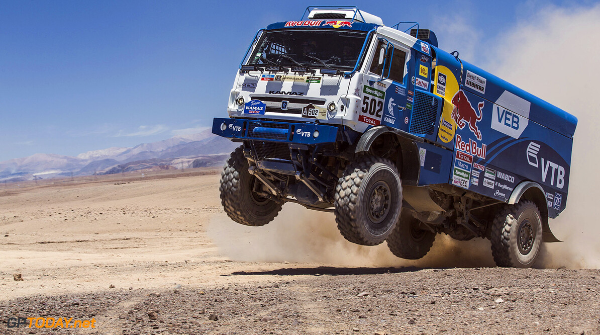 Eduard Nikolaev races during stage 5 of Rally Dakar 2015 from Copiapo to Antofagosa, Chile on January 8th, 2015 // Flavien Duhamel/Red Bull Content Pool // P-20150108-00272 // Usage for editorial use only // Please go to www.redbullcontentpool.com for further information. //  Eduard Nikolaev - Action Flavien Duhamel    P-20150108-00272