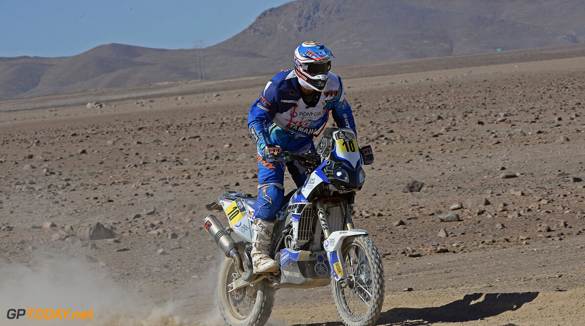10 PEDRERO GARCIA Juan (Esp) Yamaha action during the Dakar 2015 Argentina Bolivia Chile, Stage 5 / Etape 5 -  Copiapo to Antofagasta on January 8th 2015 at Copiapo, Chile. Photo Eric Vargiolu / DPPI AUTO - DAKAR 2015 PART 1 Eric Vargiolu Copiapo Chile  auto rally rallye rallyraid rallyes raid rallye raid amerique du sud 2015 janvier january moto camion trucks bikes quad argentine bolivie chili dakar course