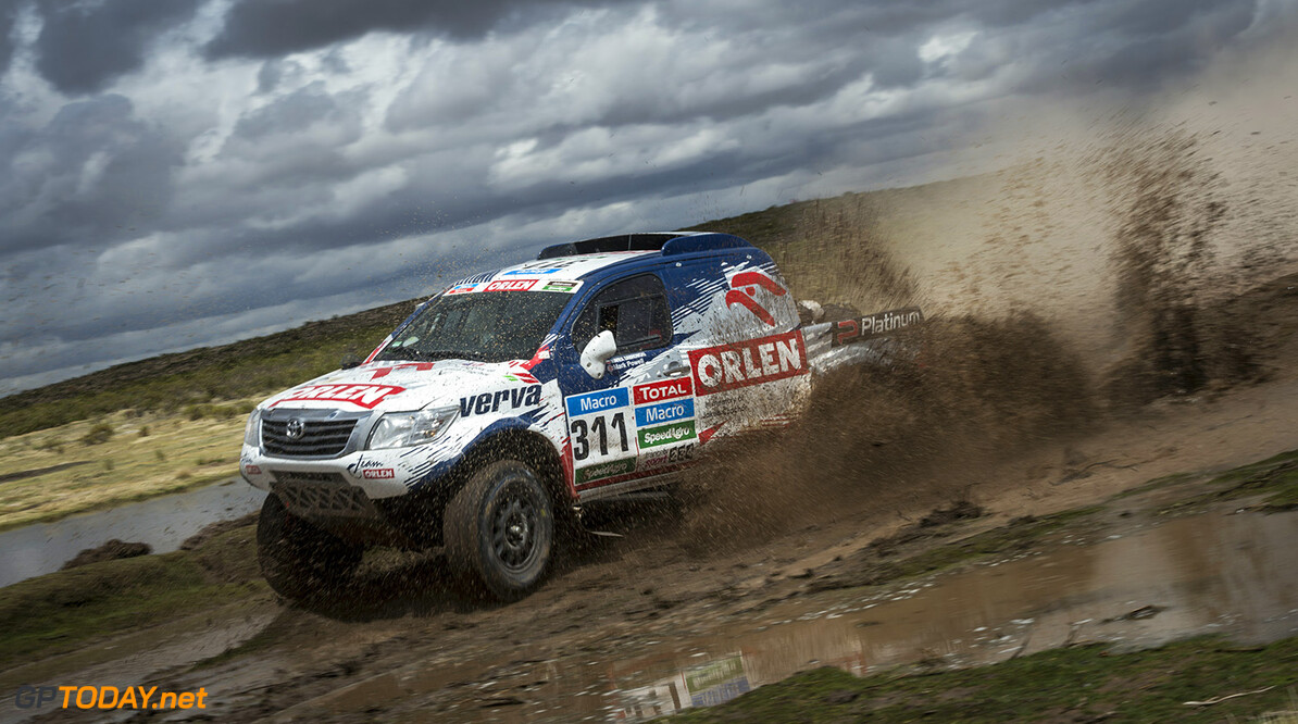 Marek Dabrowski races during the 7th stage of Rally Dakar 2015 from Iquique, Chile to Uyuni, Bolivia on January 10th, 2015 // Marcelo Maragni/Red Bull Content Pool // P-20150110-00105 // Usage for editorial use only // Please go to www.redbullcontentpool.com for further information. //  Marek Dabrowski - Action     P-20150110-00105