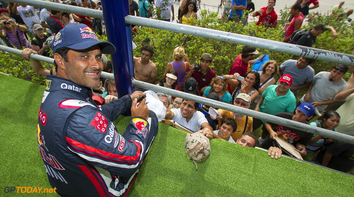 Nasser Al-Attiyah seen during the press conference after winning the Rally Dakar 2015 in Tecnopolis, Buenos Aires, Argentina on January 17th, 2015  // Gustavo Cherro/Red Bull Content Pool // P-20150118-00003 // Usage for editorial use only // Please go to www.redbullcontentpool.com for further information. //  Nasser Al Attiyah - Lifestyle Gustavo Cherro/ Red Bull Content Buenos Aires (City) Argentina  P-20150118-00003