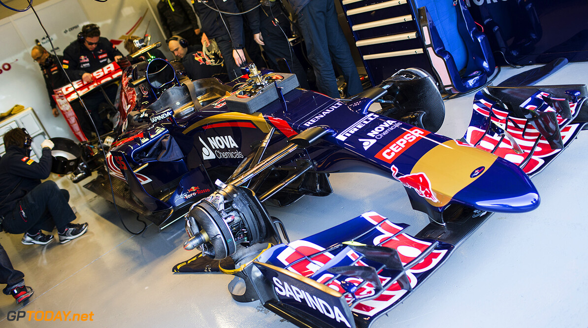 The STR10 of Scuderia Toro Rosso is seen in Misano, Italy on 28th of January, 2015 // Samo Vidic/Red Bull Content Pool // P-20150131-00070 // Usage for editorial use only // Please go to www.redbullcontentpool.com for further information. //  STR10  Misano Adriatico Italy  P-20150131-00070