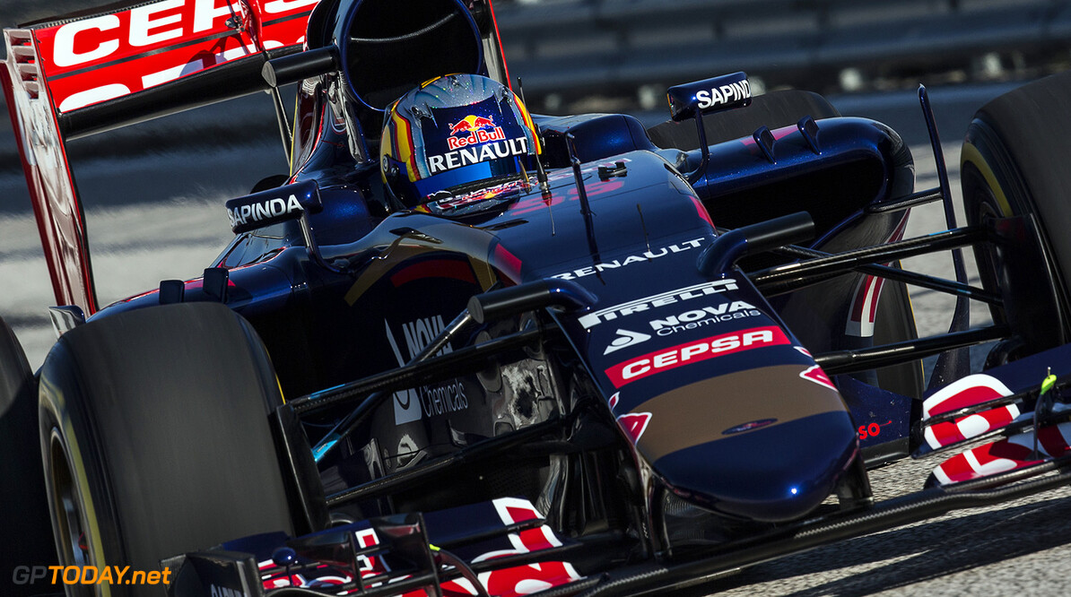 Carlos Sainz of Spain and Scuderia Toro Rosso drives the STR10 in Misano, Italy on January 28th, 2015 // Samo Vidic/Red Bull Content Pool // P-20150131-00059 // Usage for editorial use only // Please go to www.redbullcontentpool.com for further information. //  Carlos Sainz - Action  Misano Adriatico Italy  P-20150131-00059