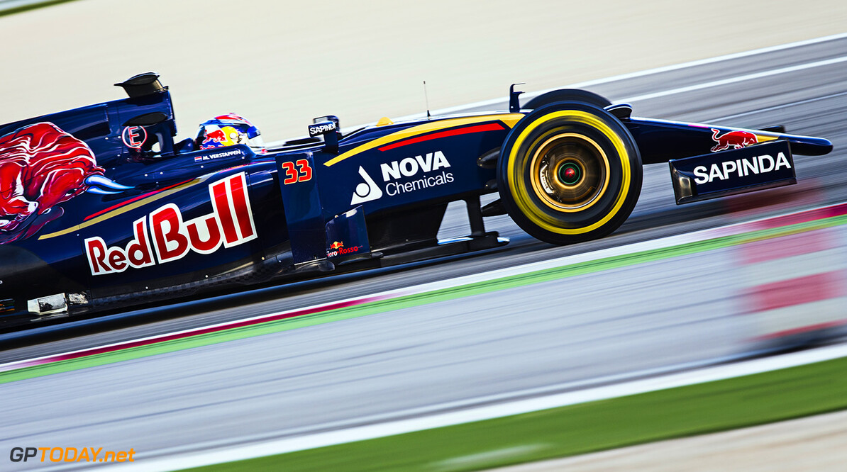 Max Verstappen of Netherlands and Scuderia Toro Rosso drives the STR10 in Misano, Italy on January 28th, 2015 // Samo Vidic/Red Bull Content Pool // P-20150131-00067 // Usage for editorial use only // Please go to www.redbullcontentpool.com for further information. //  Max Verstappen - Action  Misano Adriatico Italy  P-20150131-00067